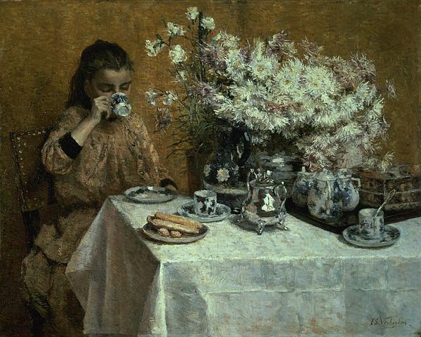 Afternoon Painting - Afternoon Tea by Isidor Verheyden