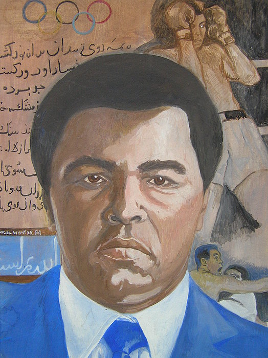 Ali Painting - Ali by Nigel Wynter