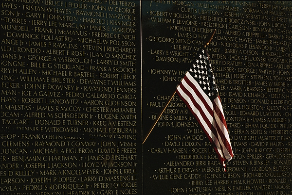 American National Flag Photograph - American Flag Left At The Vietnam by Medford Taylor