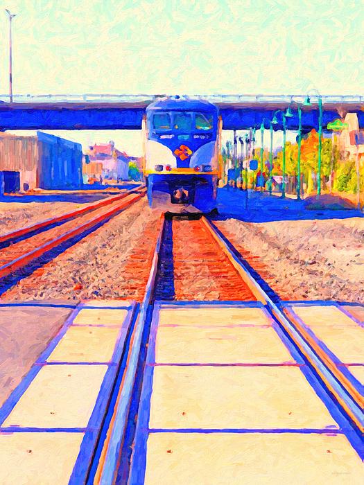 Transportation Photograph - Amtrak Train . Photo Art by Wingsdomain Art and Photography