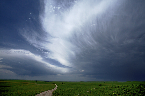 Outdoors Photograph - An Afternoon Thunderstorm Coming by Jim Richardson