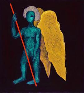Angel Painting - Angel With A Spear by Victor Lysakov