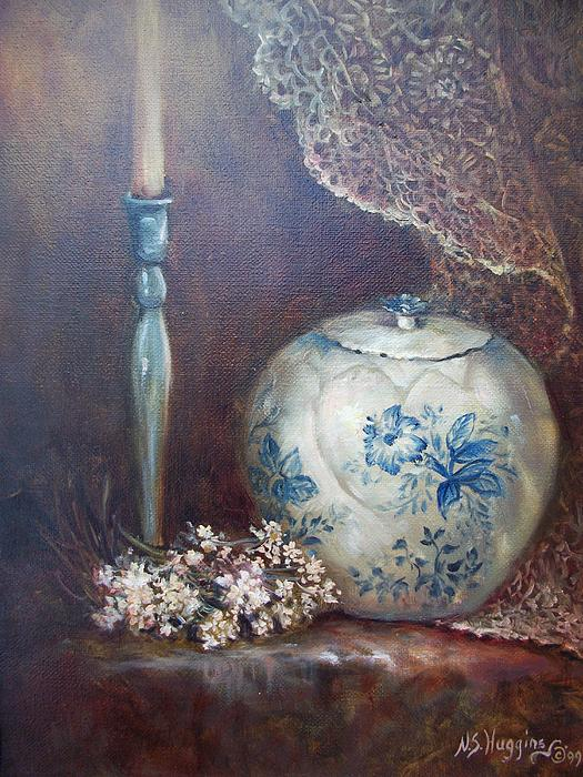 Stillife Painting - Antique Ginger Jar by Naomi Dixon