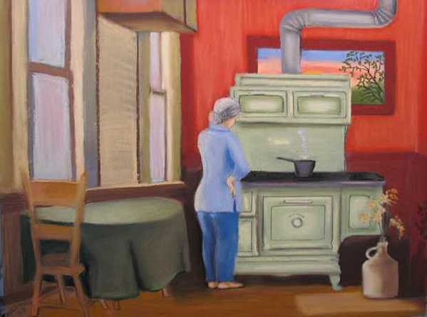 Aunt Clara Painting by Mary Hollinger