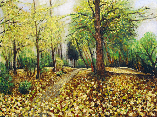 Landscape Painting - Autumn Alley by Vladimir Kezerashvili