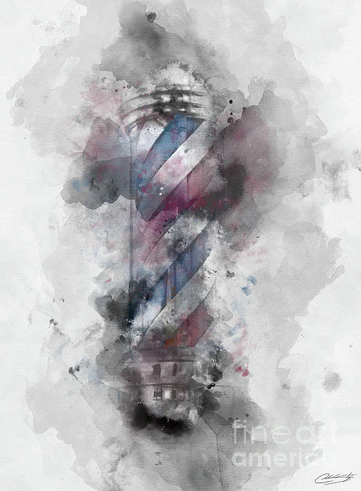Barber Digital Art - Barber Pole by The Styles Gallery