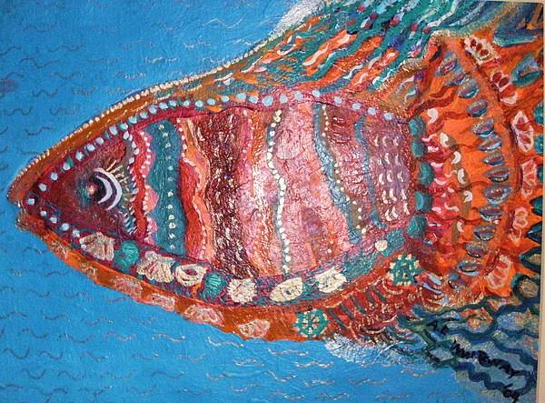 Fish Mixed Media - Barracuda Lite by Anne-Elizabeth Whiteway