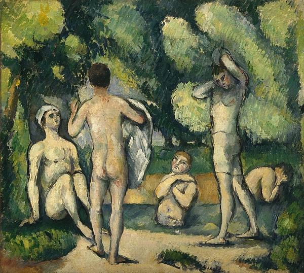 Bathers Painting - Bathers by Paul Cezanne