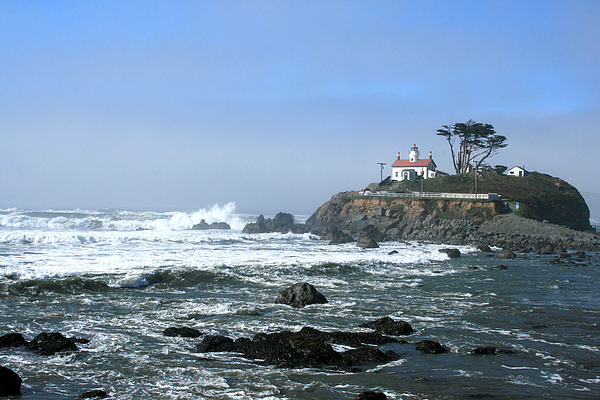 Lighthouse Photograph - Battery Point Lighthouse Crescent City 1 by Larry Darnell