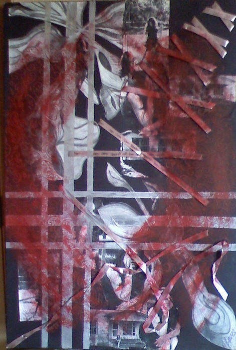 Abstract Mixed Media - Behind The Dancer by Amber Reaves
