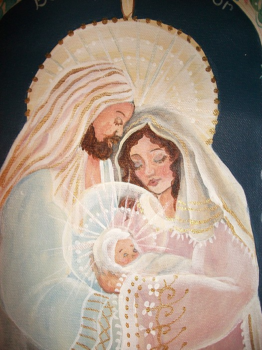 Portrait Painting - Behold The Saviour by Carolyn Sylvester