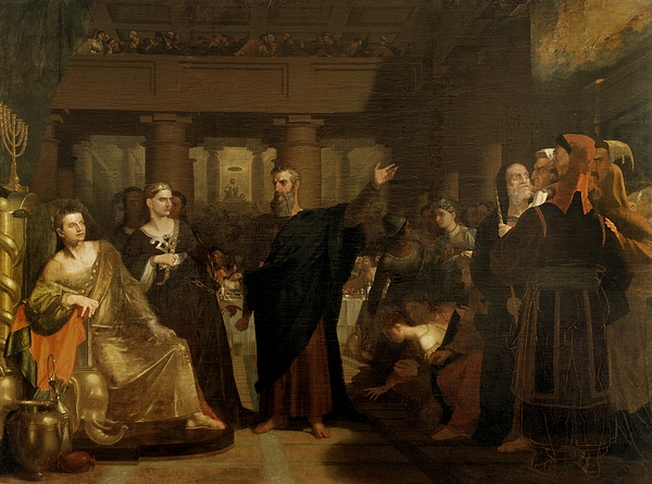 Belshazzar Painting - Belshazzars Feast by Washington Allston
