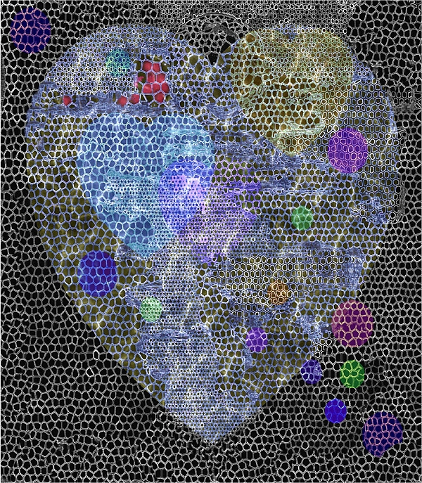 Heart Digital Art - Big Heart by Mimo Krouzian