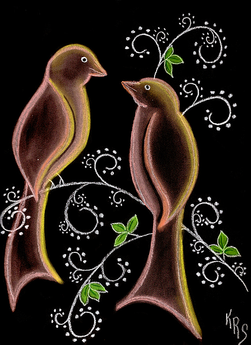 Bird Drawing - Bird Doodle by Karen R Scoville