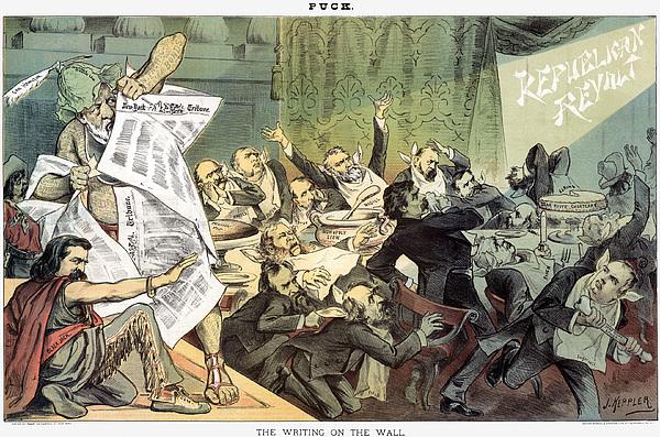 1884 Photograph - Blaine Cartoon, 1884 by Granger