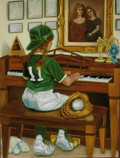 Child Painting - Blake by Catherine Amendola