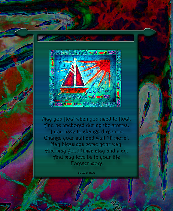 Prayer Painting - Blessings 2 by Sue Duda
