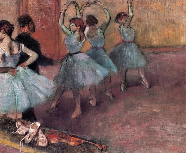 Impressionist Painting - Blue Dancers by Edgar Degas