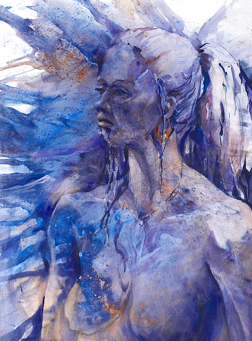 Joan Fuhrman Jones Painting - Blue Lady by Joan  Jones