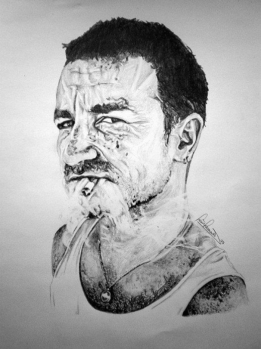 Portraits Drawing - Bono by Sean Leonard