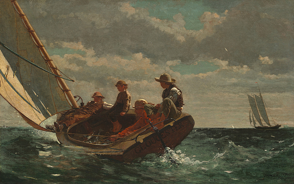 House Painting - Breezing Up by Winslow Homer