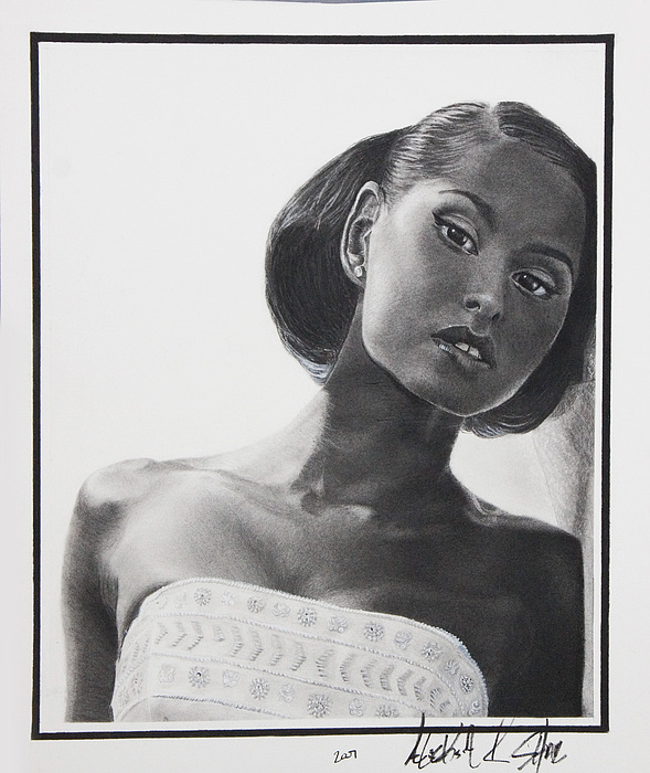 Charcoal Painting - Bridal by Raymond Potts