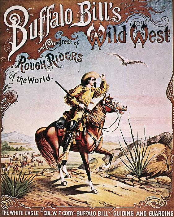 1893 Photograph - Buffalo Bill: Poster, 1893 by Granger