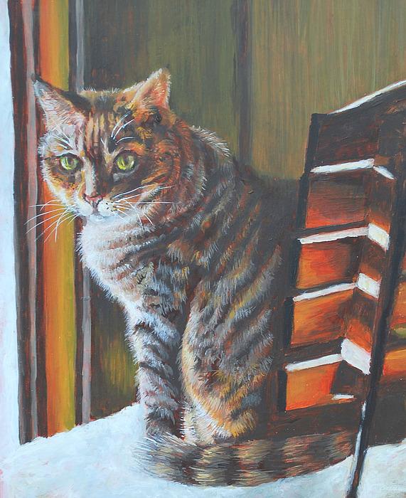 Cat Painting - Callie by Linda  Medders-Jackson
