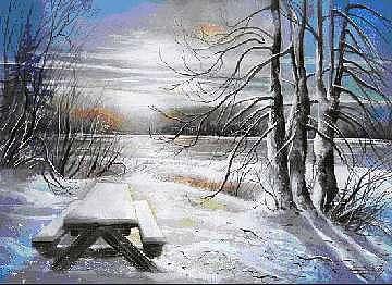 Capturing The Snow Painting by Dumitru Barliga