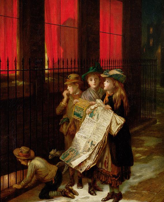 Carol Painting - Carol Singers by Augustus Edward Mulready