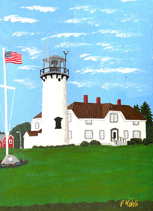 Lighthouses Painting - Chatham Lighthouse Painting by Frederic Kohli