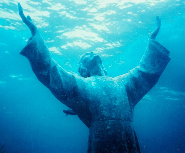 Christ Photograph - Christ At Sea by Renee Shular