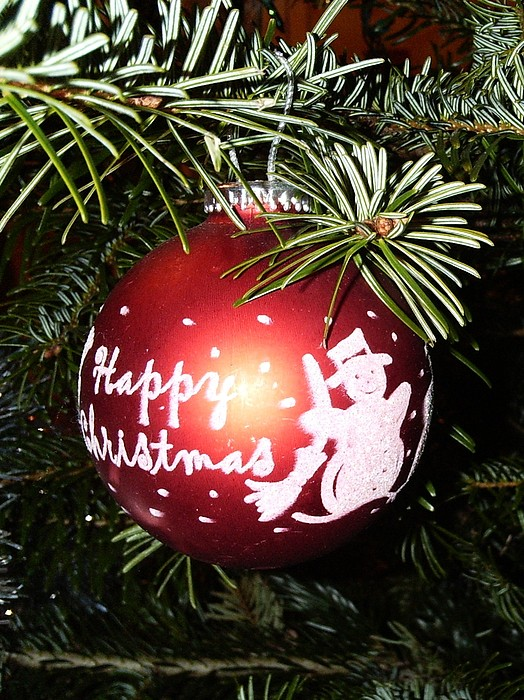 Christmas Photograph - Christmas Bauble by Deborah Brewer