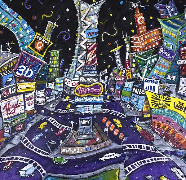 New York City Painting - City Of Lights by Jason Gluskin