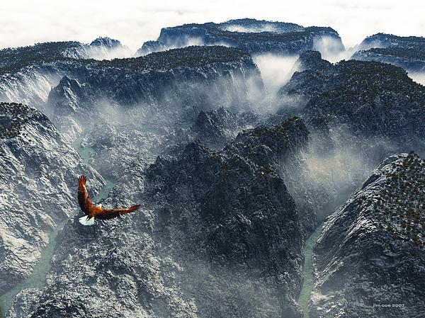 Landscape Digital Art - Cloud Canyon by Jim Coe