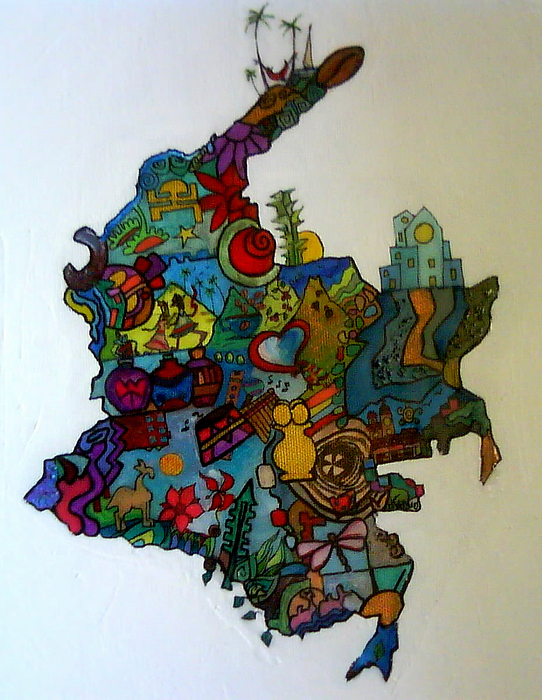 Colombia Painting - Colombia by MikAn sArt