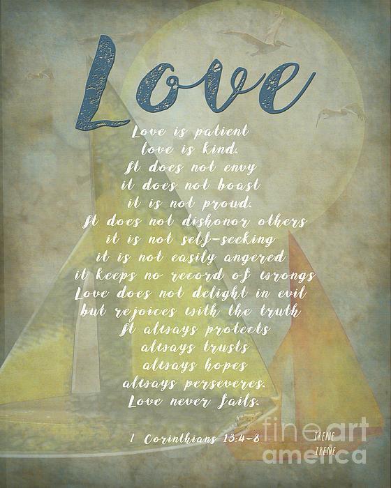1 Corinthians 13 4-8 Love Is Patient Love Is Kind Wedding