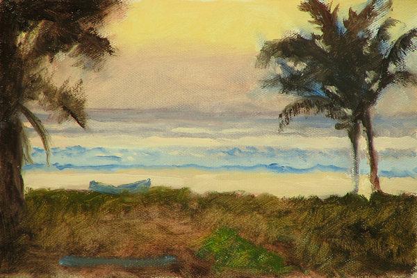 Ocean Painting - Costa Rica Gold by Robert Bissett