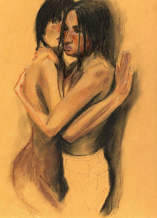 Couple Painting - Couple by Sergio Guerrini