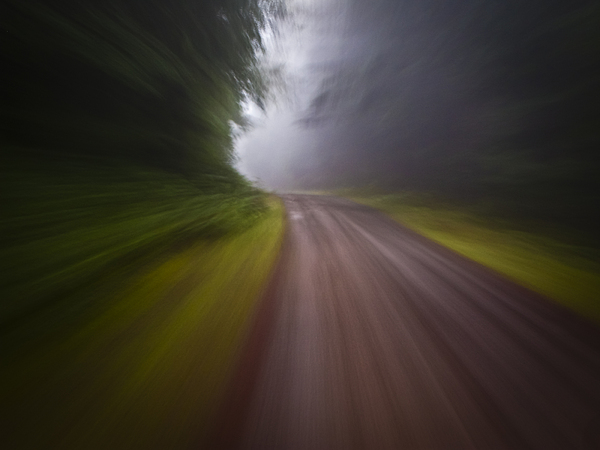 Country Photograph - Curve In The Road Blur by Ed Book