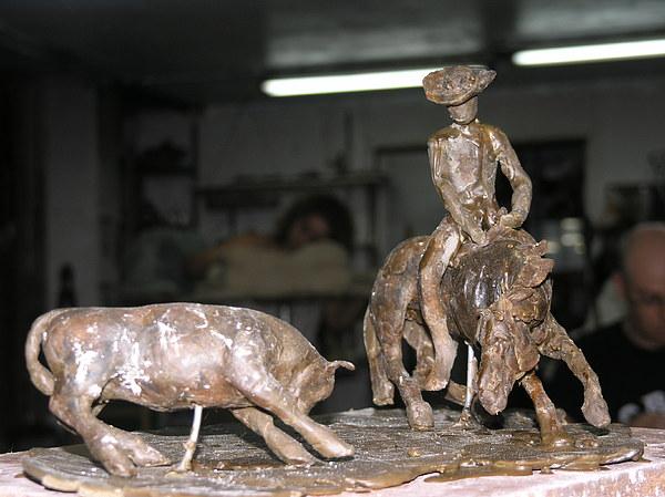 Horse Sculpture - Cutting by Daniel Baharier