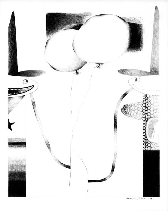 Fantasy Drawing - Cycloptic Couple by Tony Paine