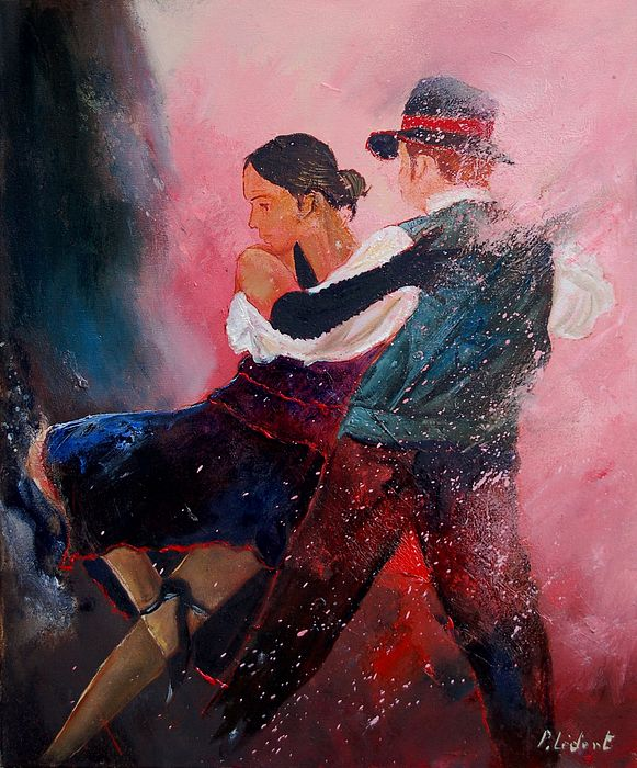 Music Painting - Dancing Tango by Pol Ledent