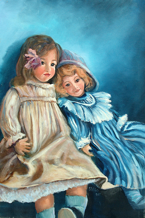 Dolls Painting - Dolls At Rest by Sally Seago