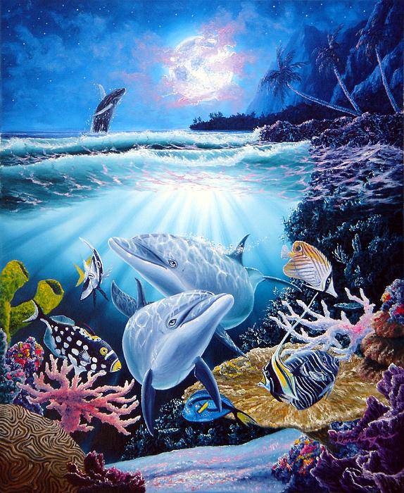 Dolphin Painting - Dolphin Dream by Daniel Bergren