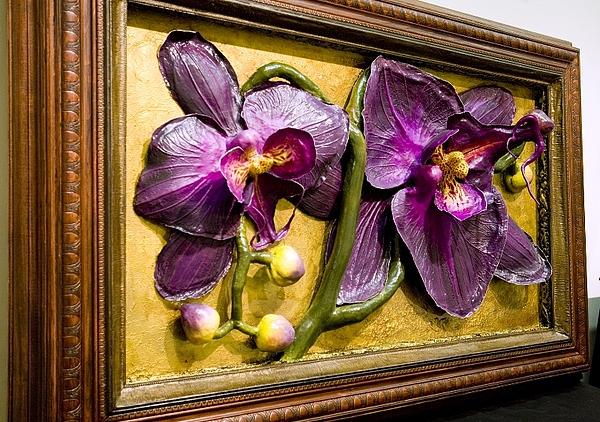 Door To Orchids - View 2 Painting by Nelbert  Flores