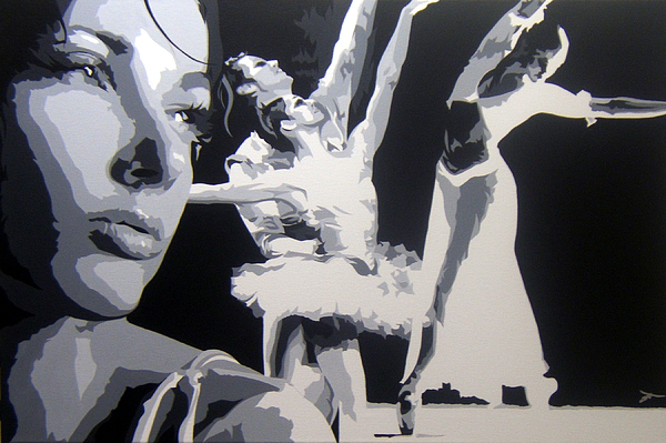 Gymnast Painting - Dreaming-gymnast II by Michael James Toomy