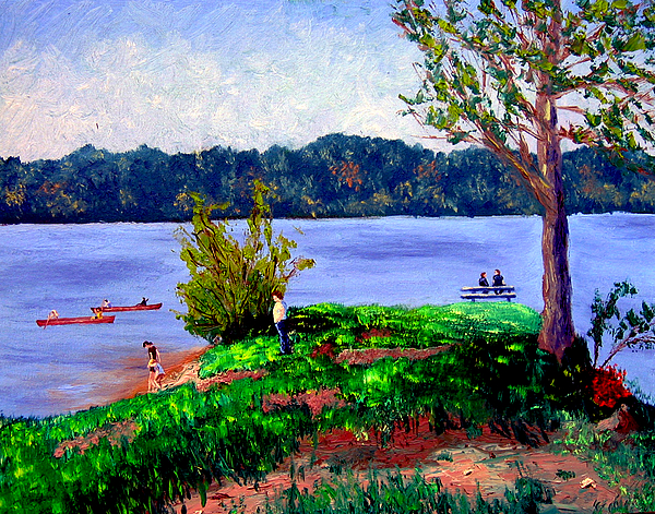Plein Air Painting - Ecp 5 16 by Stan Hamilton