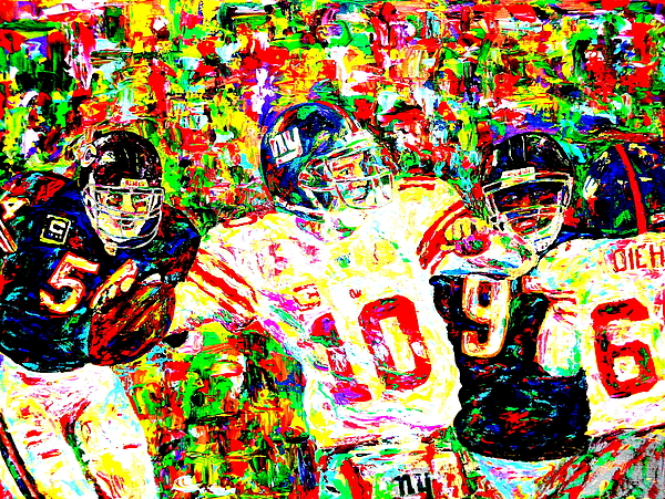 Eli Manning Painting - Eli Manning by Mike OBrien