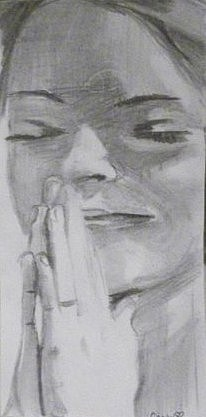 Portraits Drawing - Essence by Casey Bingham